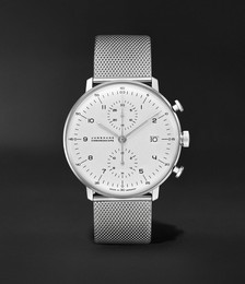 Max Bill Chronoscope Automatic 40mm Stainless Steel Watch, Ref. No. 027/4003.48