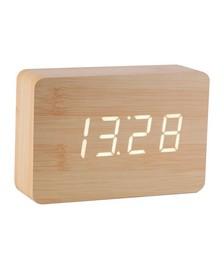Brick Click Clock - Beech White LED