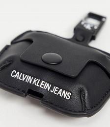 Calvin Klein Jeans air pod earphone holder in black