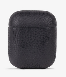 Logo-embossed leather Airpod case
