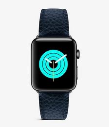 Top-grain leather Apple Watch strap 44mm