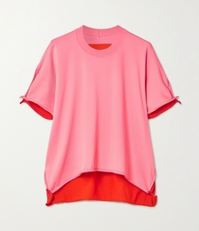 Two-tone jersey T-shirt