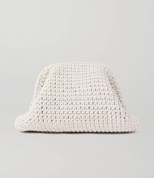 The Pouch large crocheted leather clutch