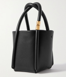 Lotus 12 leather tote