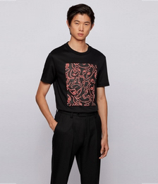 Slim-fit T-shirt in cotton with ox-head artwork