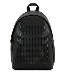 Structured-nylon backpack with ox-head graphic