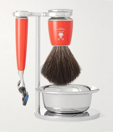 Rytmo Four-Piece Chrome And Resin Shaving Set