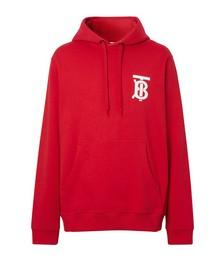 Monogram motif hoodie
