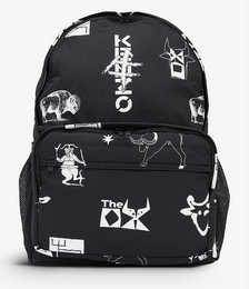 Logo-print shell nylon backpack
