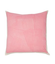Hand-painted linen cushion