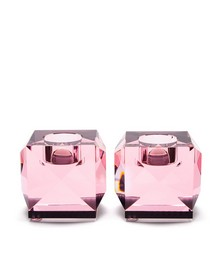 Set of two Ophelia crystal tealight candle holders