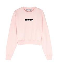 Light pink logo cotton sweatshirt