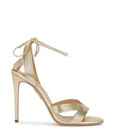 Ari 105 gold leather sandals