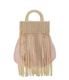 Follie fringe-embellished top handle bag