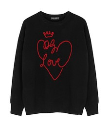 Love embroidered wool jumper