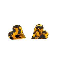 Mini Heart tortoiseshell hair clips - set of two