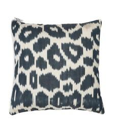 Ikat-pattern silk cushion