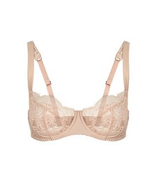 Signature blush lace balcony bra