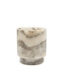 Tlight alabaster vase