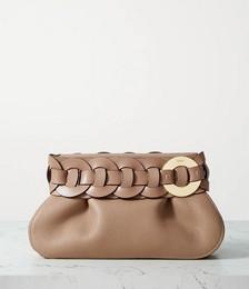 Darryl braided textured-leather clutch