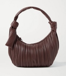 Neptune knotted pleated leather shoulder bag