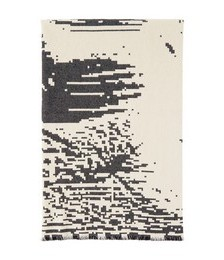 SSENSE Exclusive Off-White & Black Abstract Woman Towel