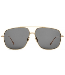 Men's John Gold Trim Navigator Sunglasses - Rose Gold