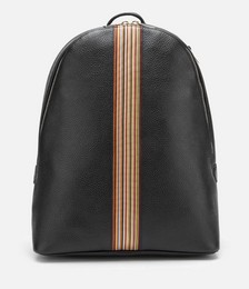 Men's Signature Stripe Backpack - Black Pebble