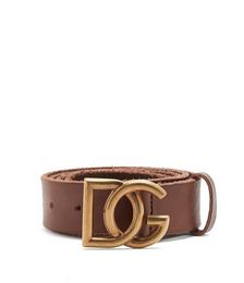 DG-buckle leather belt