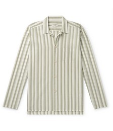 Striped Organic Cotton Pyjama Shirt