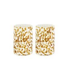 Set Of Msm 2 Ivory & Amber Glasses