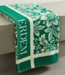 Intarsia merino wool and cashmere-blend blanket