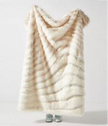Janelle Faux Fur Throw Blanket