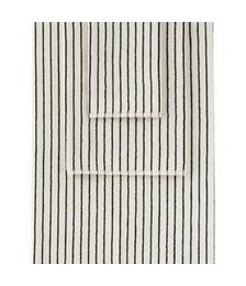 Off-White & Green Organic Three-Piece Towel Set