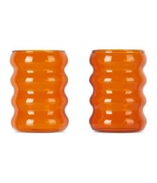Brown Ripple Cup Set, 6 oz
