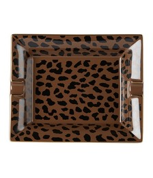 Brown Large Leopard Ashtray