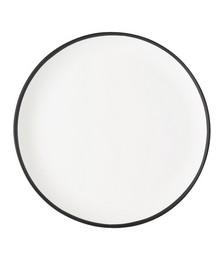 White & Black Dinner Plate