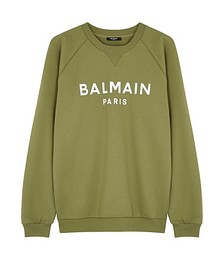 Olive logo cotton sweatshirt