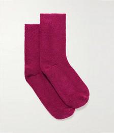 Cotton-blend terry socks