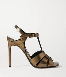 Catri woven metallic leather sandals