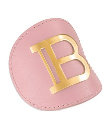 Pink/gold Leather Hair Clip