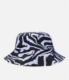 Printed Cotton Poplin Bucket Hat - Forever Blue