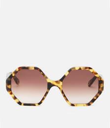 Octagon Frame Acetate Sunglasses - Havana