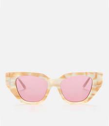 Cat Eye Crystal Detail Sunglasses