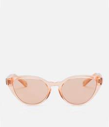 Cat Eye Frame Acetate Sunglasses - Coral