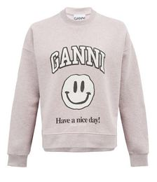 Smiling face recycled cotton-blend sweatshirt