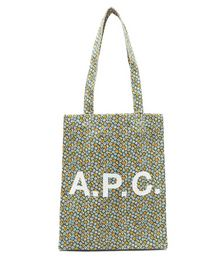 Lou logo and floral-print canvas tote bag