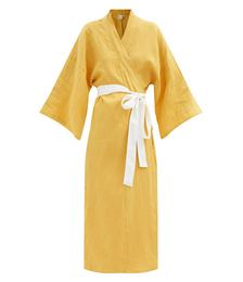 02 belted linen robe