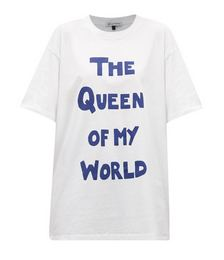 The Queen of My World-print cotton-jersey T-shirt