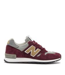 Made in UK 670 suede and mesh trainers
